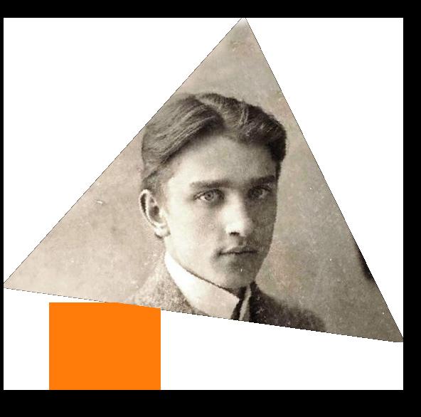 Zdjęcie portretowe młodego Stefana Banacha, patrona Liceum Banacha w Chorzowie